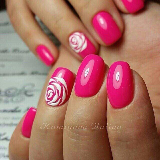 pink and coral two tone nails shellac | ... Shellac Nails on Pinterest | - Best 25+ Two Tone Nails Ideas On Pinterest Two Toned Nails
