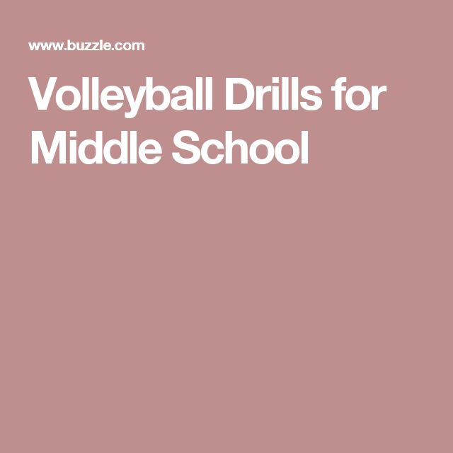 Volleyball Drills for Middle School
