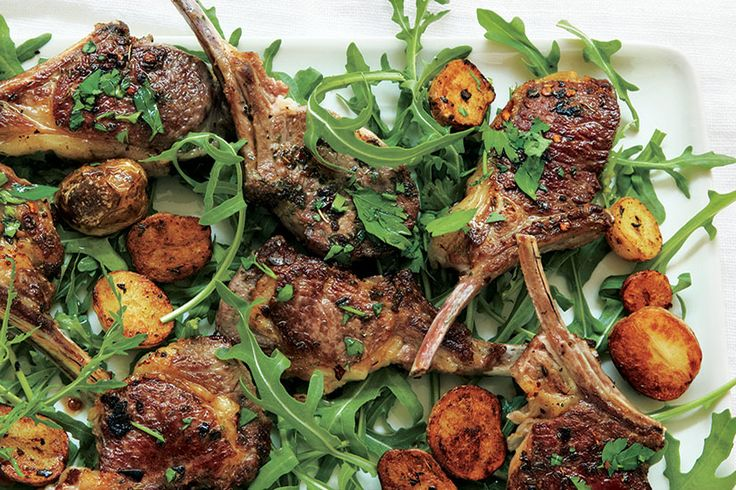 Recipe: Nigella Lawson's lamb cutlets—Fresh arugula adds a tender peppery flavour to these delicious lamb cutlets.