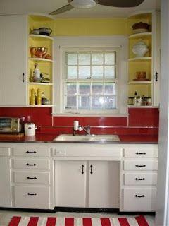 retro red and yellow kitchen meadow lane pinterest
