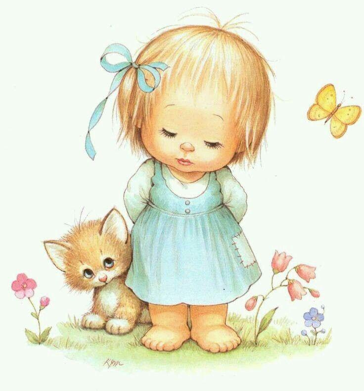 Рисованные картинки дети маленькие