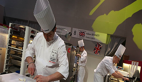 Chef Adam Bennett in action at Bocuse d'Or Final 2013