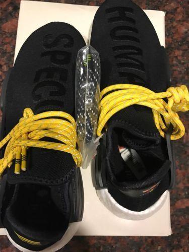 2ecbbfc0a27d9 Adidas NMD Human Race HU PW Pharrell Williams Core Black BB3068 SZ 6 ...