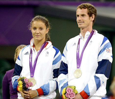 Team GB Medals 2012  45. Andy Murray and Laura Robson - SILVER  (Tennis: Mixed Doubles)