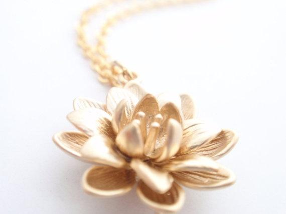 14K gold filled flower necklace