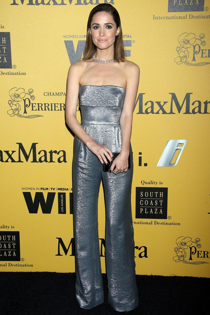 Women In Film 2014 Crystal + Lucy Awards, LA - June 11 2014  Rose Byrne wore a jumpsuit by MaxMara.