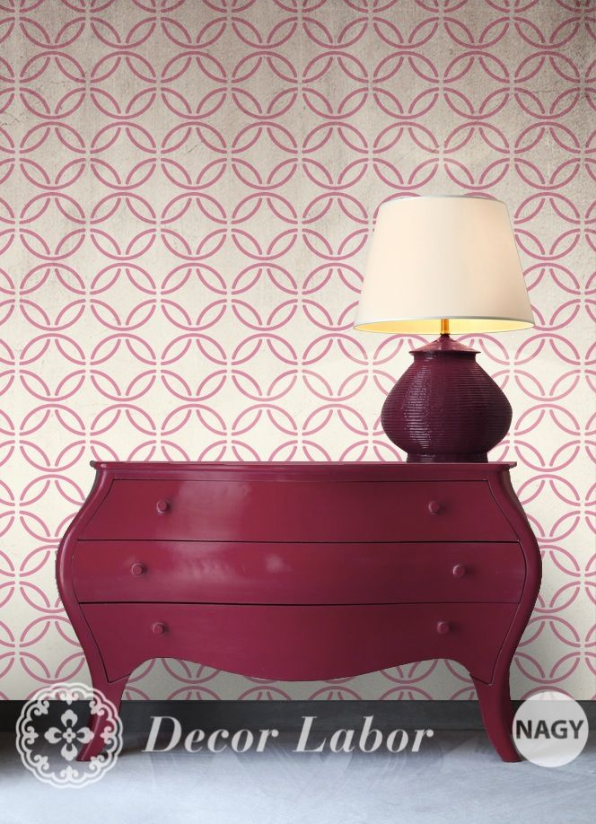 our stencils - vintage cement tile pattern http://decorlabor.hu/