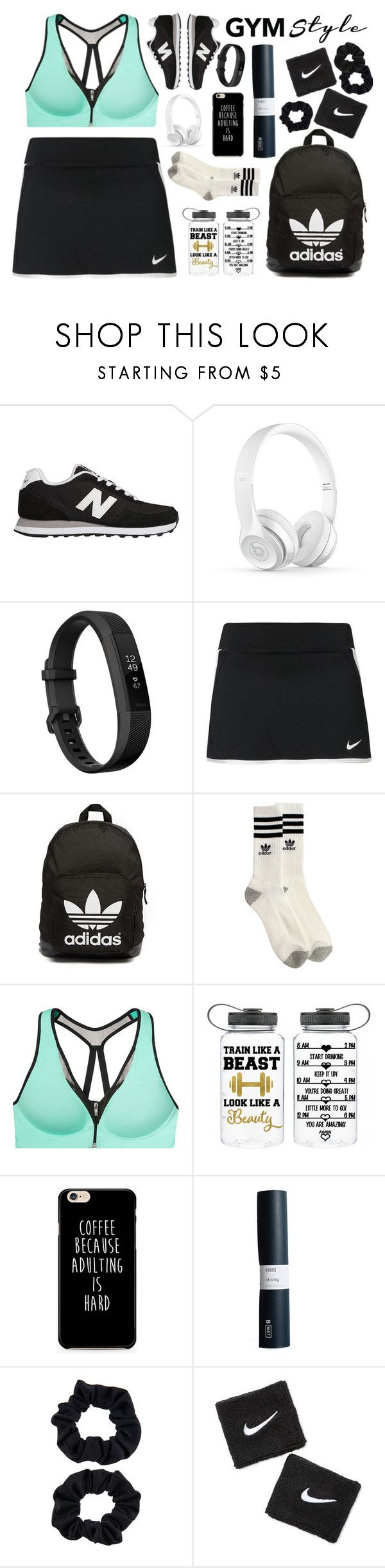 """""""Untitled #855"""" by redx1202 ❤ liked on Polyvore featuring New Balance, Fitbit, NIKE, adidas Originals, adidas, Victoria's Secret, Accessorize and Miss Selfridge"""