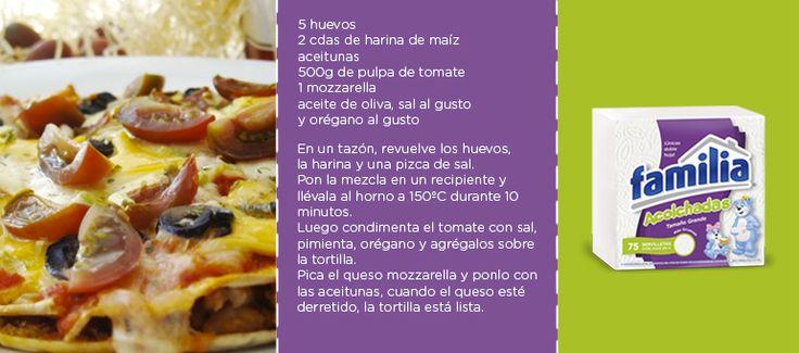 Prepara esta rica y saludable tortilla vegetariana para compartir un delicioso almuerzo en familia. Ingredientes: