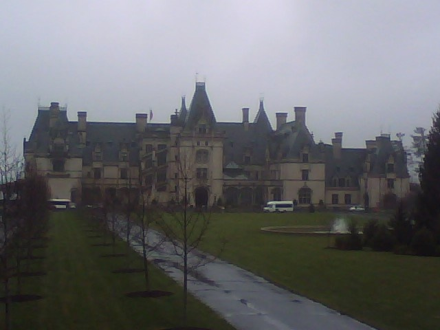 Asheville, NC - The Biltmore House in the rain.
