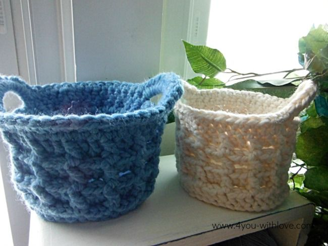 Using just one skein of bulky yarn, make textured crochet basket in an evening. It's a great project to try both textured crochet & a crochet basket.