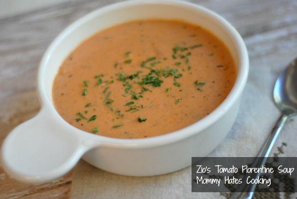 Zio's Tomato Florentine Soup {Copycat & Gluten Free Optional}