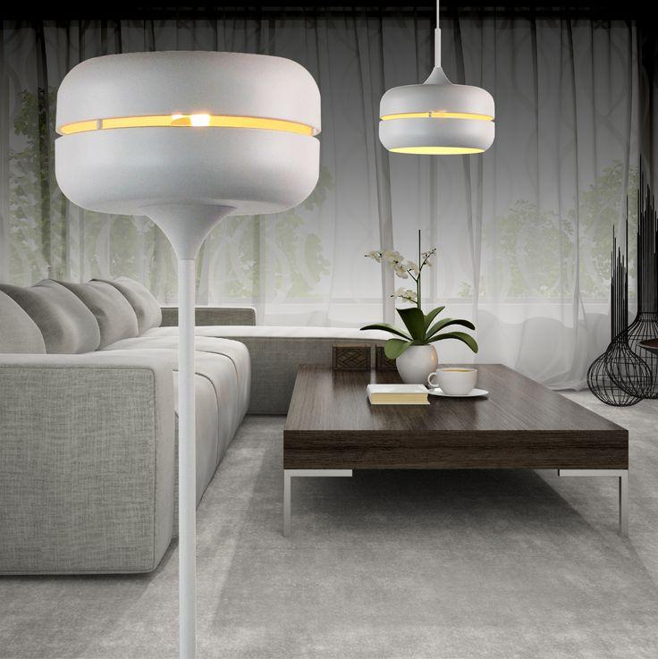 """Przedstawiamy lampę podłogową oraz wiszącą z rodziny DESI. Podoba Wam się taki """"kosmiczny"""" design? :)"""