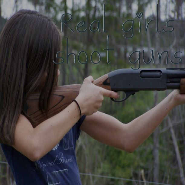 girls shooting guns