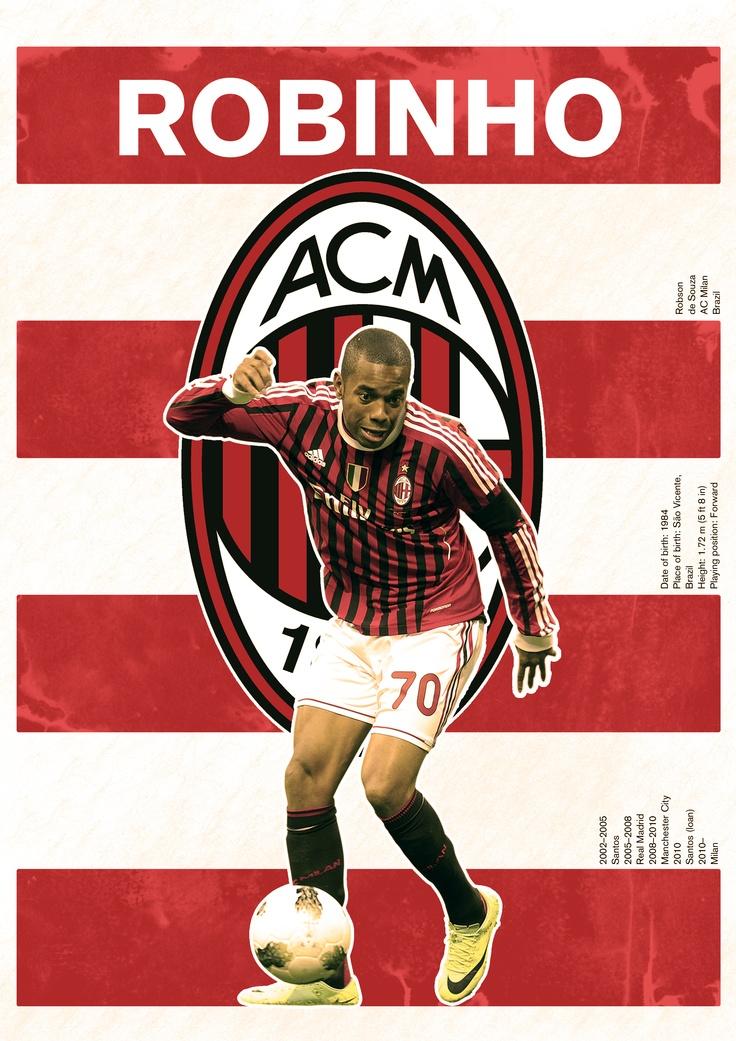 The Robinho/Milan poster