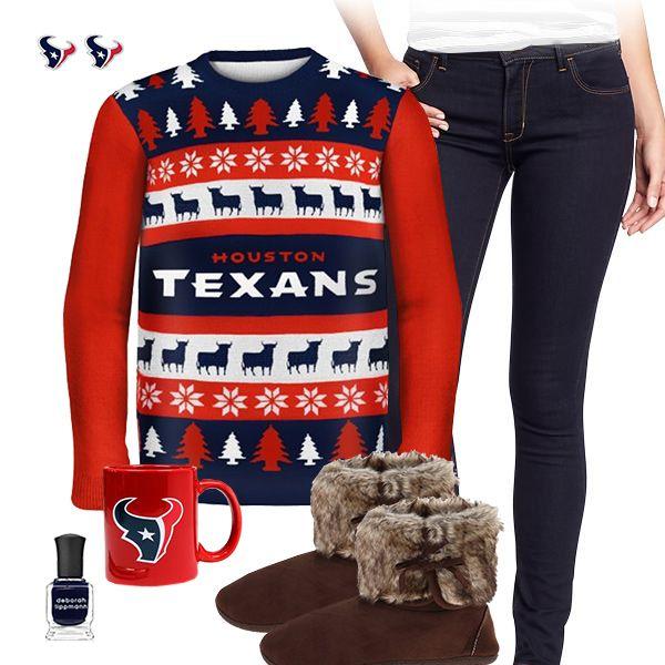 Houston Texans Lace-Up Sweater | Houston Texans Gear | Pinterest ...