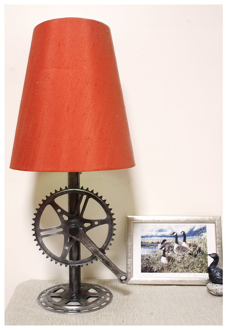 Recycled bike parts lamp base | Recycled bike parts, Bike ...