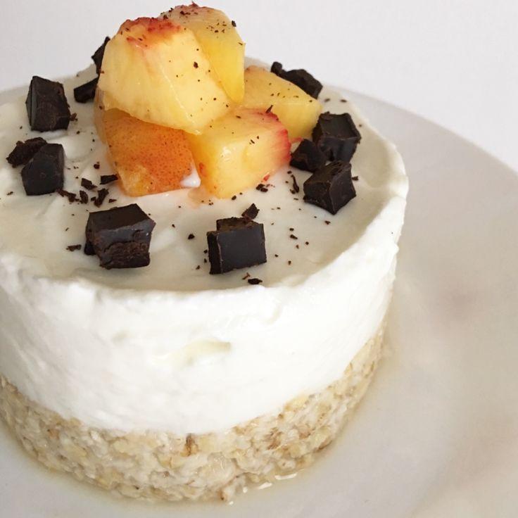 Per gli amanti della cheesecake ecco una ricetta monoporzione facile, veloce e fit! (Ricetta di Giada Dal Cin)