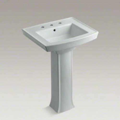 Kohler Bathroom Pedestal Sinks | Kohler K 2359 8 Archer Vitreous China 24  Pedestal