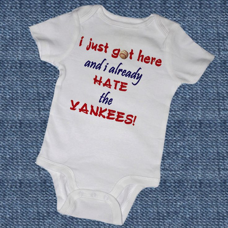 I Just Got Here and I ALREADY HATE the YANKEES - yes.: Mothers Day Gifts, Red Sox, Future Children,  Tees Shirts, Baby Need, Future Baby, My Children, Baby Shower Parties, Baby Gifts Sports