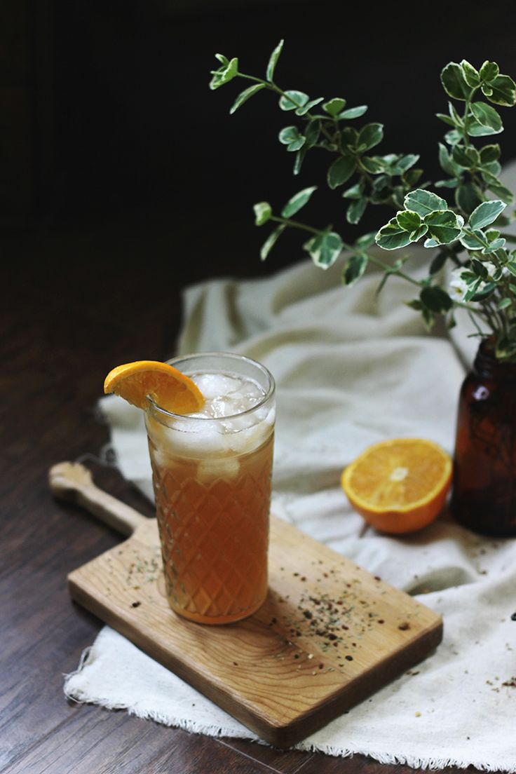 Embrace the mocktail with Orange Blossom Hibiscus Iced Tea.