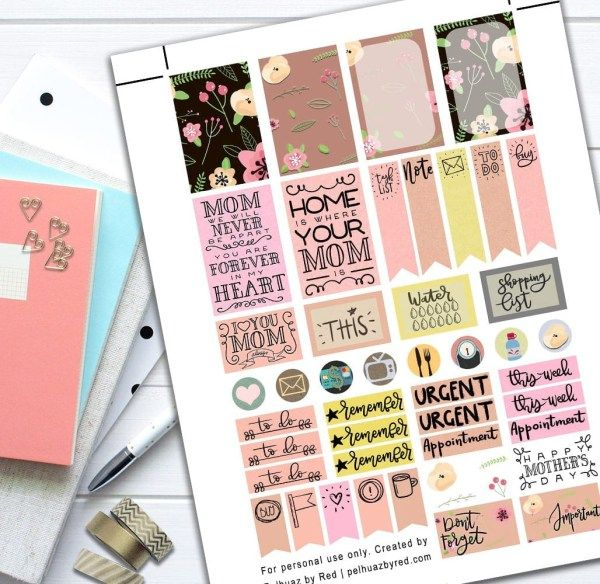 Mothers Day Theme Planner Weekly Sticker Kit