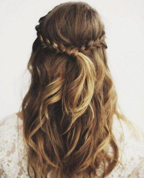 Peinado bonito diario con trenzas y nudo