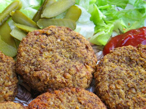 Hamburguesas de lentejas :: recetas veganas recetas vegetarianas :: Vegetarianismo.net
