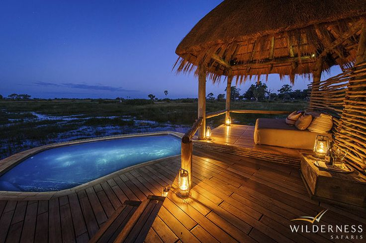 Little Mombo - The camp overlooks the surrounding floodplains which offer some of the best big game viewing in the Okavango Delta. #Africa #Safari #Botswana
