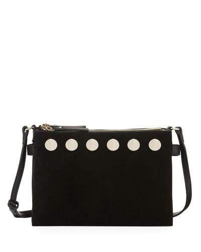 Celia Studded Triple-Top Crossbody Bag