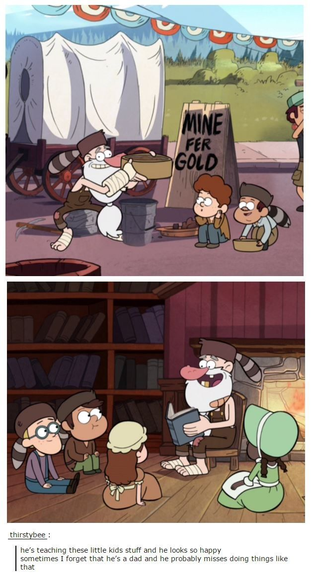 I like to think Fiddleford is a very paternal man and that he loves children #GravityFalls #Macgucket