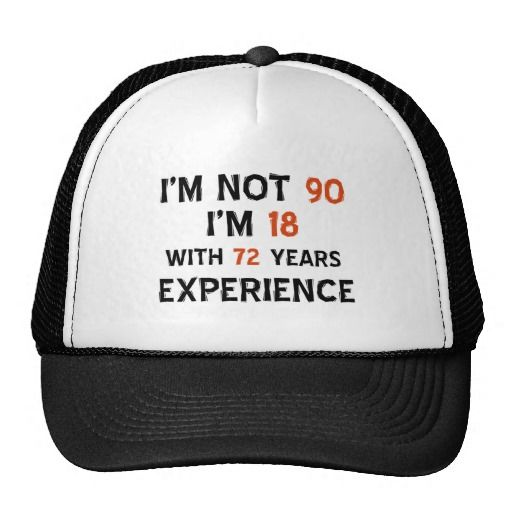 90th cool birthday designs mesh hat
