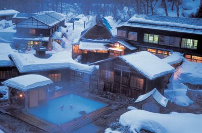 Nyuto Onsen Kyou is the rural spa resort located in Tazawa Lake at the base of Nyuto Mountain in Akita Prefecture.