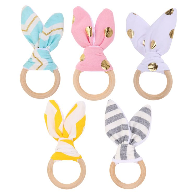 赤ちゃんのおもちゃ柔らかいウサギの耳木製ハンド把握おもちゃガラガラ開発赤ちゃんインテリジェンス赤ちゃん把持玩具ハンドベルガラガラ