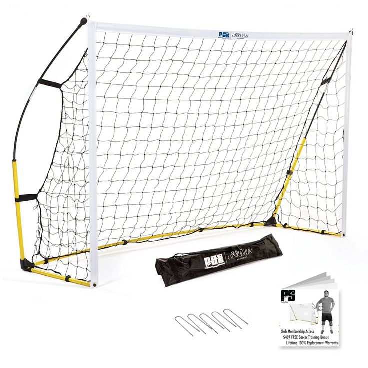 Premium Portable Soccer Goal + Rebounder Soccer Goal 2in1 by Perfect Soccer - LIFETIME WARRANTY - FREE carrying bag - Portable soccer training equipment – 6 x 4 Soccer Goal For Kids and Adults – Major