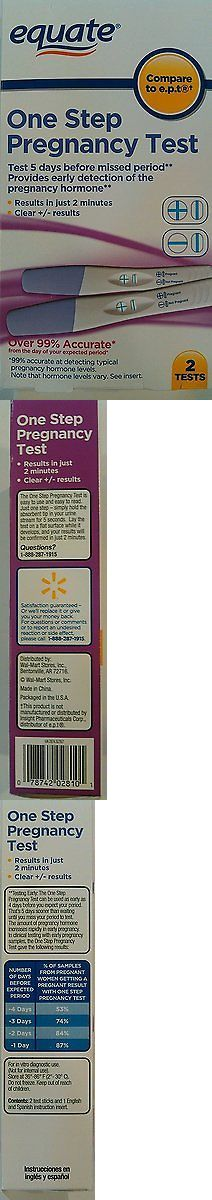 Pregnancy Tests: Always Turns Positive One Step Pregnancy Tests Box Of 2 Compare To E.P.T Use For -> BUY IT NOW ONLY: $38.98 on eBay!