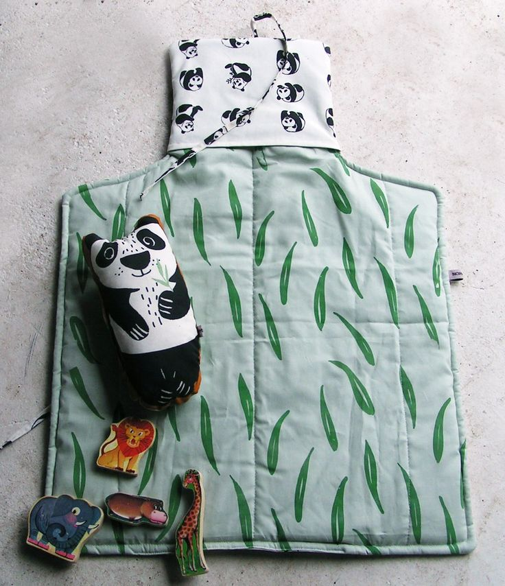 Soft and fluffy ! Our bestseller in a new print and size Silk screened changing mat Panda Available from our site www.normadot. com