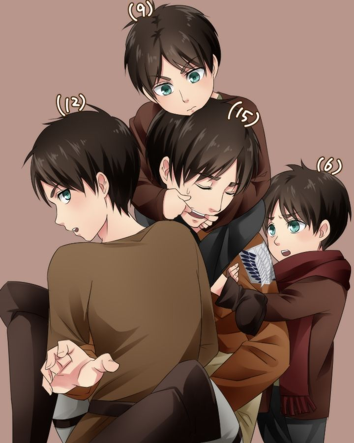 Anime/manga: SNK Character(s): Eren, I think they should be 17 or 18 instead of 15.