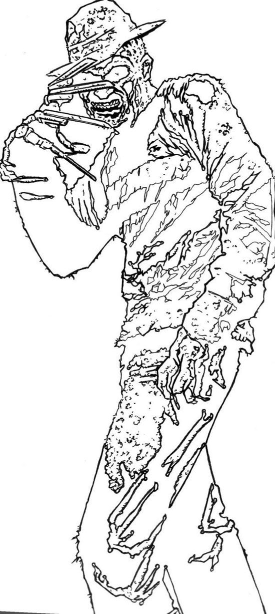 120 Best Horror Coloring Pages Images On Pinterest Zombie Art Scary Horror Coloring Pages