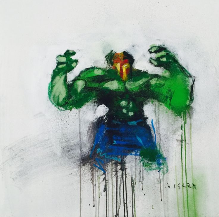 ANTHONY LISTER - IRON HULK - ROBERT FONTAINE GALLERY  http://www.widewalls.ch/artwork/anthony-lister/iron-hulk/ #painting