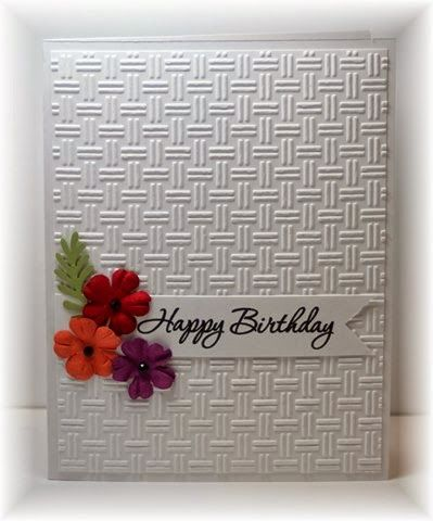 [Scrappin' and Stampin' in GJ Use StampinUp]   nice basket weave embossing folder                                                                                                                                                                                 More