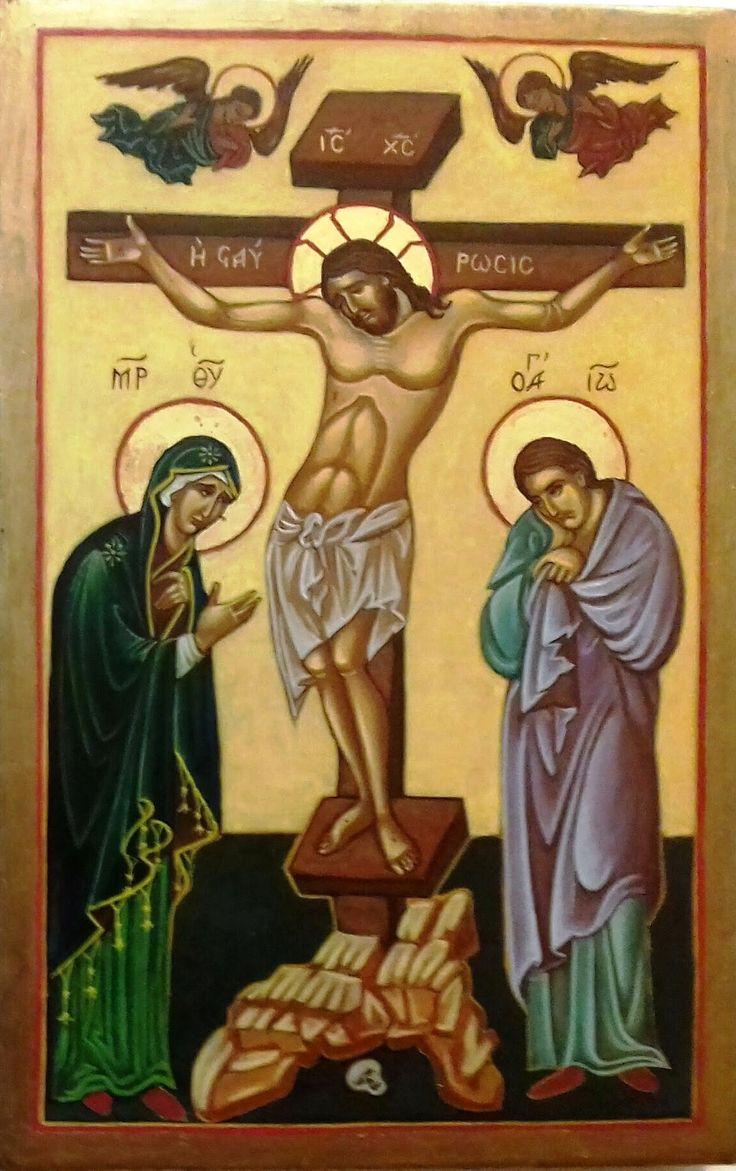 Krisztus a keresztfán Görögország XV. század
