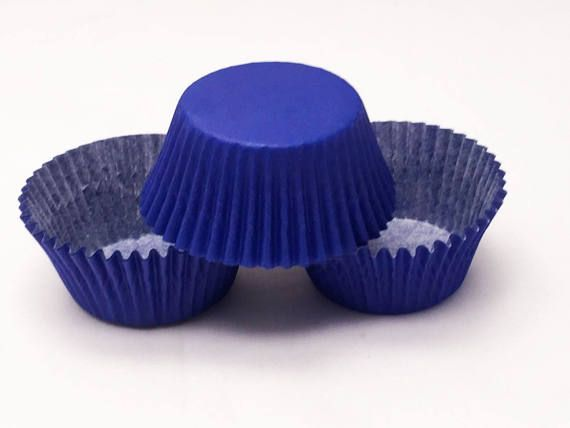 48 Royal Blue Standard Size Greaseproof Paper Cupcake Liners
