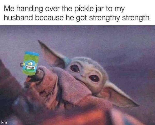 17 Baby Yoda Memes To Save You From The Dark Side Yoda Funny Yoda Meme Baby Memes