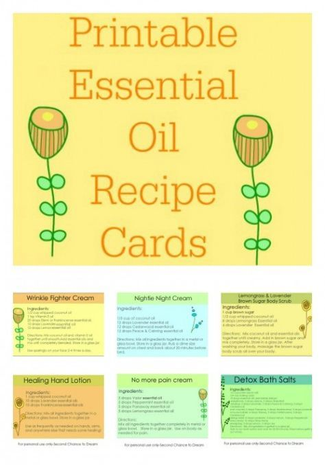 Are You In Love With Essential Oils I Have Created Some Printable Essential Oil Recipe Cards