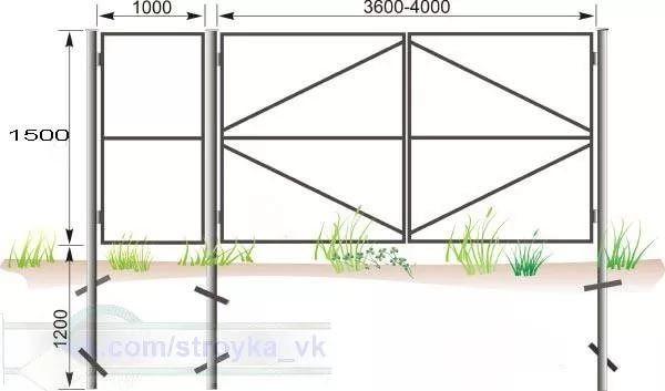 распашные ворота своими руками чертежи схемы эскизы конструкция: 14 тыс изображений найдено в Яндекс.Картинках