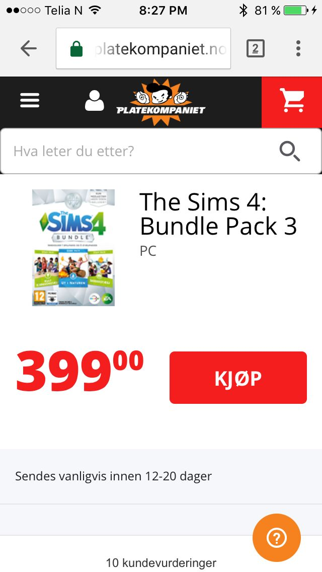 The Sims 4: Bundle Pack 3 TIL MAC, 399,- på platekompaniet