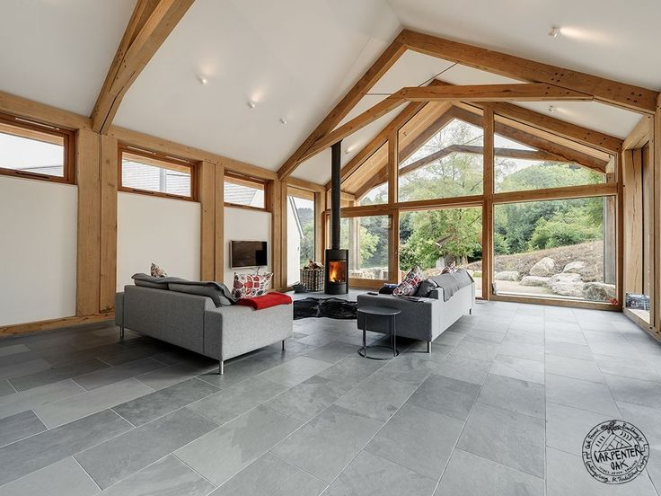 Contemporary Primary Oak Frame On New Build Extension