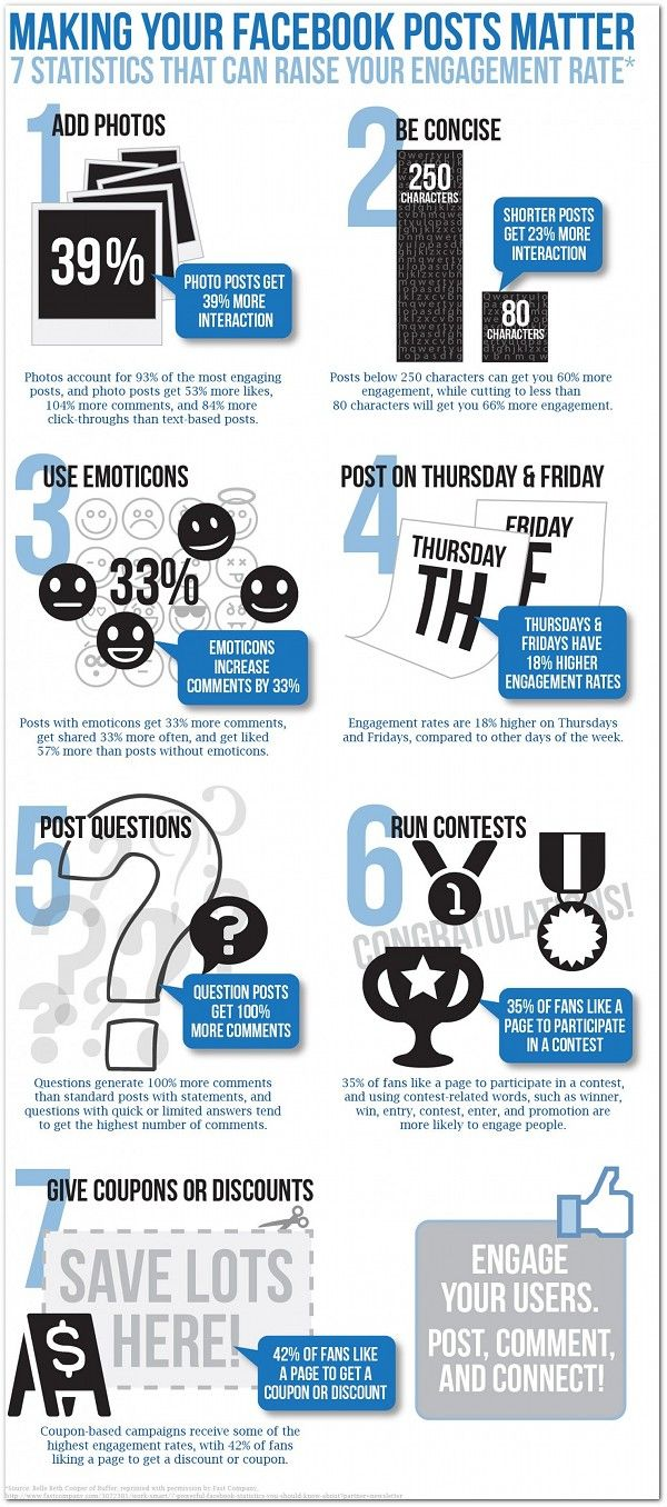 7 statistics that can raise your Facebook engagement rate #infographic