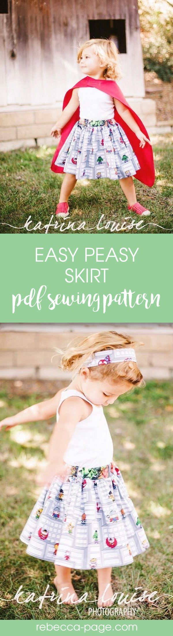 Easy beginners sewing pattern for a girls